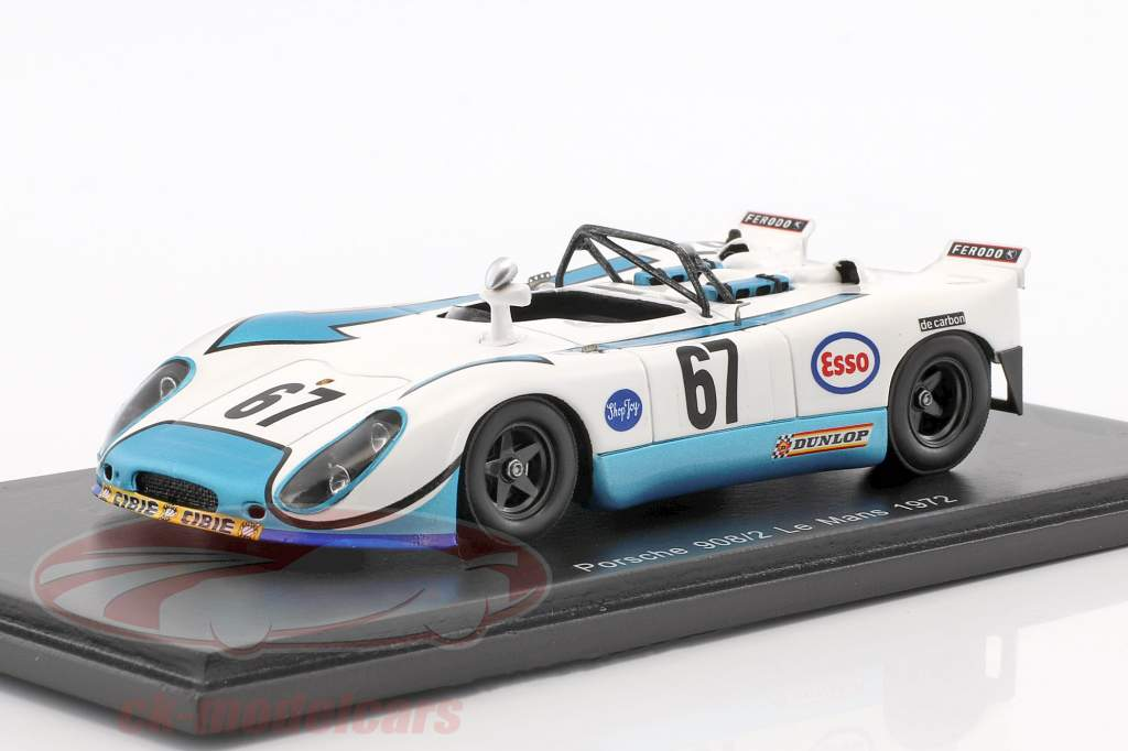 Porsche 908/2 #67 24h LeMans 1972 Poirot, Farjon 1:43 Spark