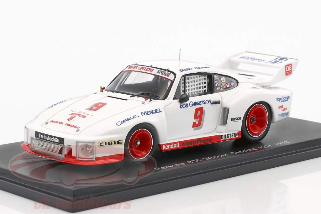 Porsche 935 #9 gagnant 12h Sebring 1978 Redman, Mendez, Garretson 1:43 Spark