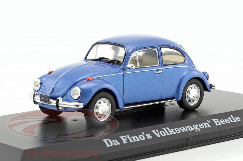 Da Fino's Volkswagen VW Beetle film The Big Lebowski 1998 blu metallico 1:43 Greenlight