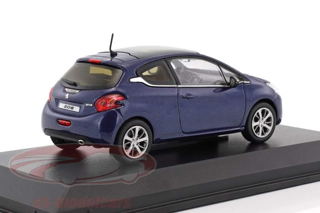 Peugeot 208 bleu foncé métallique 1:43 Norev
