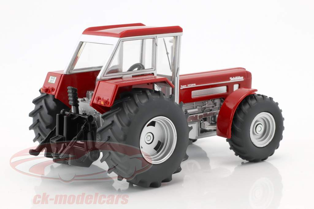 Tractor-set: Lanz Bulldog and Schlüter Super 1250VL blue / red 1:32 Siku