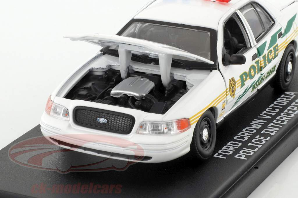Ford Crown Victoria Police Interceptor year 2003 TV-Serie CSI: Miami white 1:43 Greenlight