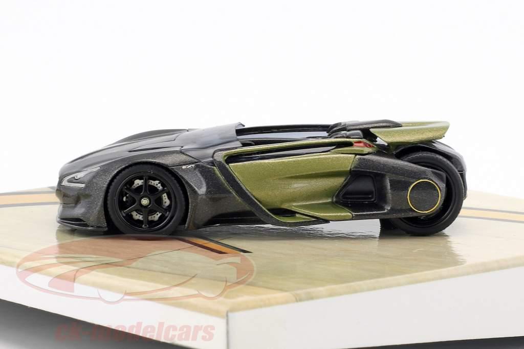 Peugeot EX1 Concept Car year 2010 dark gray metallic / olive green 1:43 Norev