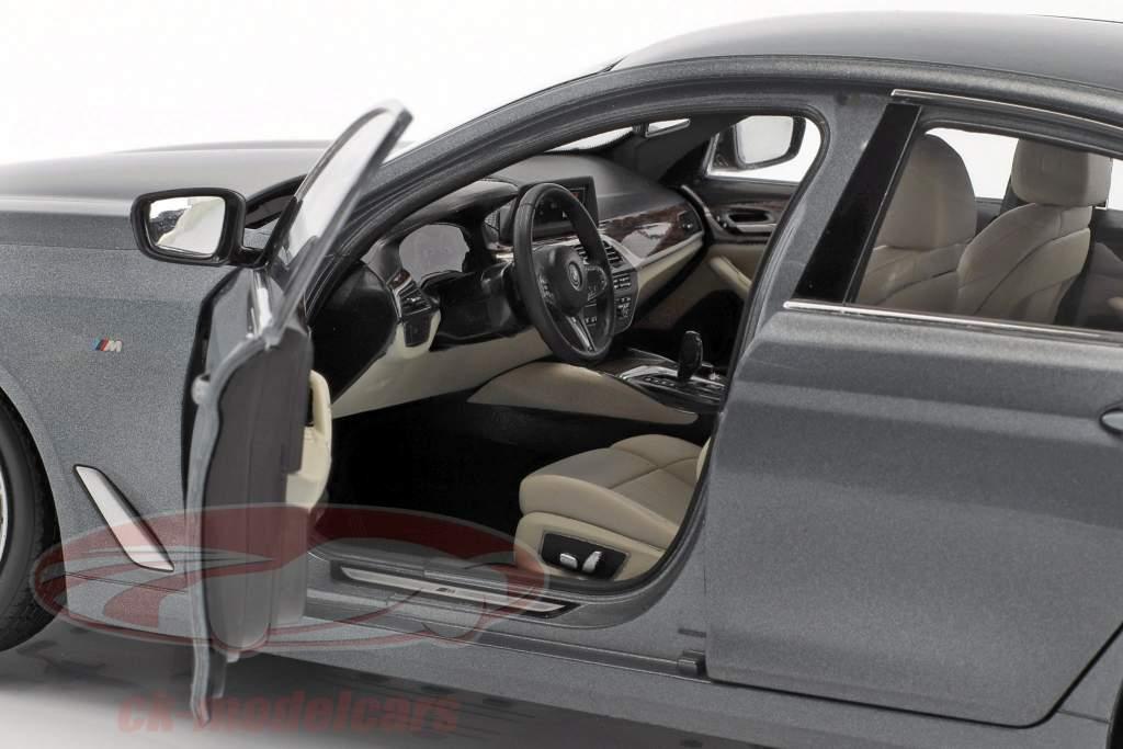 BMW 5 Series (G30) limousine year 2017 bluestone metallic 1:18 Kyosho