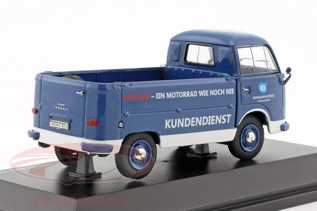 Ford FK 1000 NSU Service with NSU Max blue / white / red 1:43 Schuco