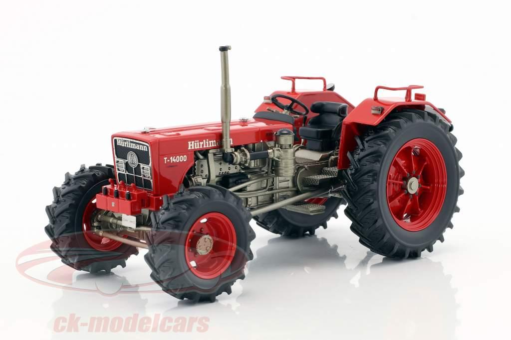 Hürlimann T 14000 Traktor rot 1:32 Schuco