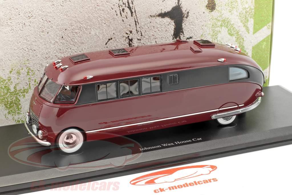 Johnson Wax House Car Baujahr 1939 dunkelrot / schwarz 1:43 AutoCult