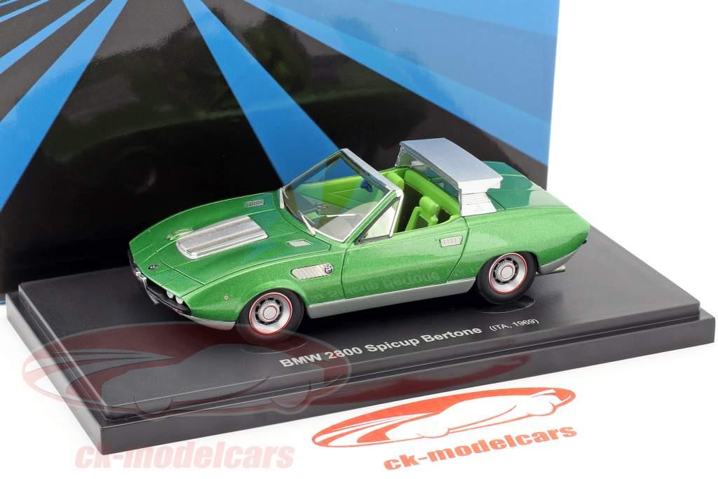 BMW 2800 Spicup Bertone Baujahr 1969 grün metallic 1:43 AutoCult