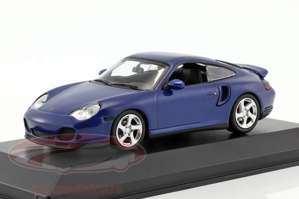 Porsche 911 (996) Turbo year 1999 blue metallic 1:43 Minichamps