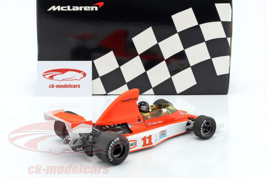 James Hunt McLaren M23 #11 2 Südafrika GP monde champion formule 1 1976 1:18 Minichamps