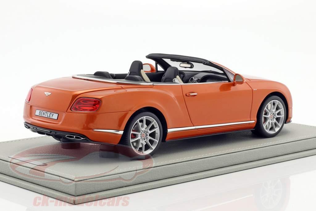 Bentley Continental GT V8 S Convertible sunrise gold metallic 1:18 BBR