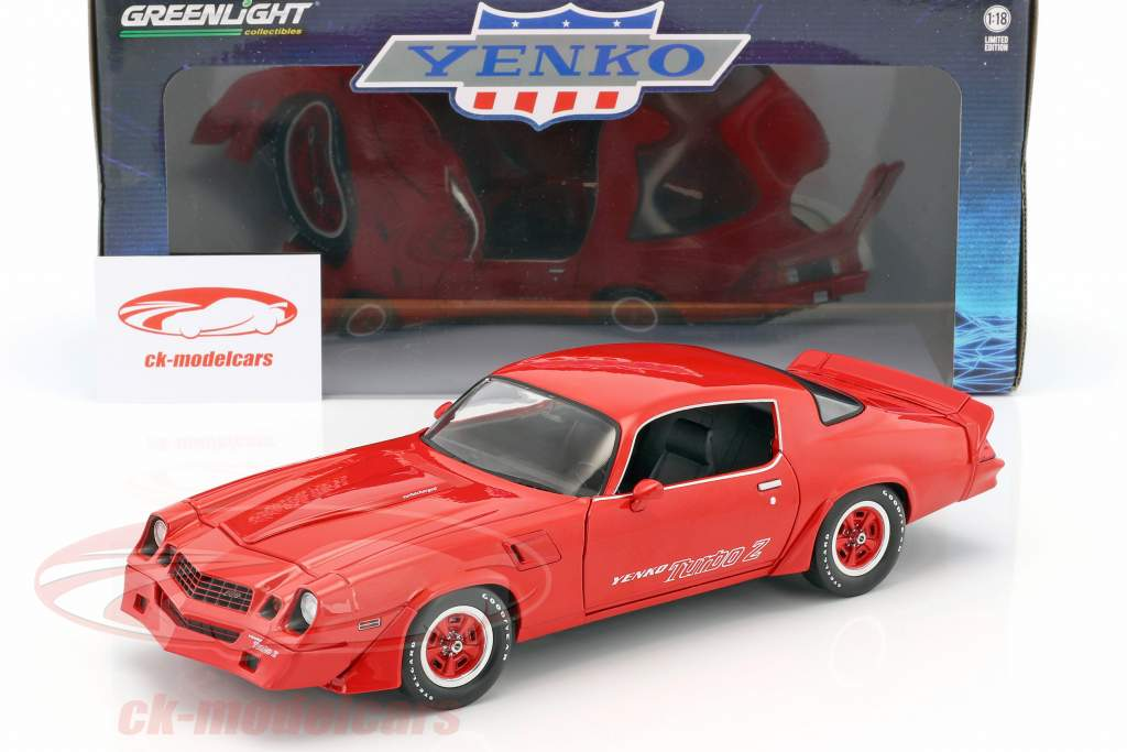 Chevrolet Z28 Yenko Turbo Z Baujahr 1981 rot 1:18 Greenlight