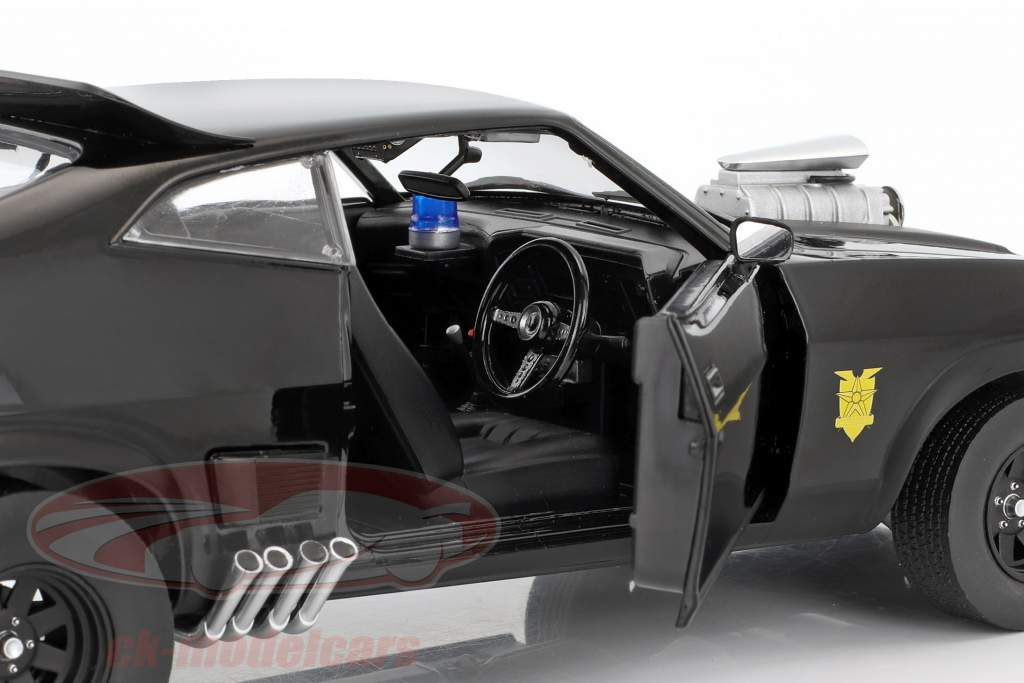 Ford Falcon XB Baujahr 1973 V8 Interceptor Film Mad Max (1979) schwarz 1:18 Greenlight