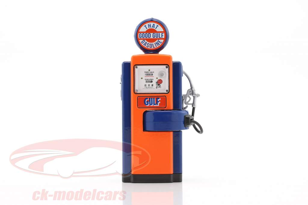 Wayne 100-A Gulf Oil Zapfsäule 1948 blau / orange 1:18 Greenlight