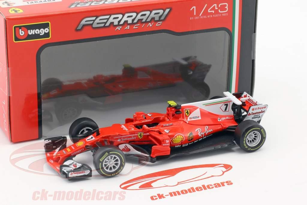 Kimi Räikkönen Ferrari SF70H #7 formula 1 2017 1:43 Bburago