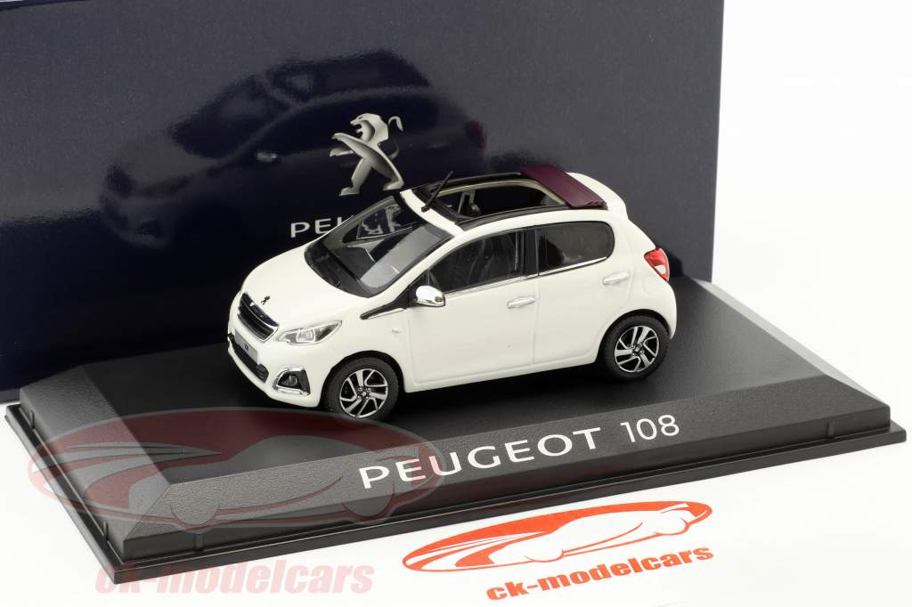 Peugeot 108 year 2014 white 1:43 Norev