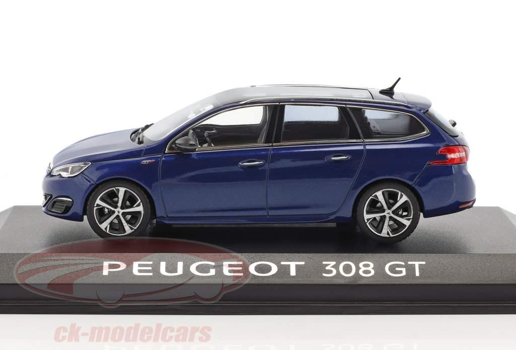 Peugeot 308 SW GT bleu 1:43 Norev