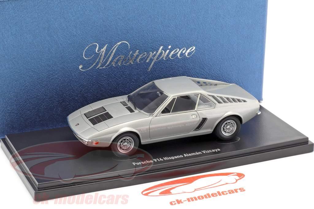 Porsche 914 Frua Hispano Aleman Vizcaya anno di costruzione 1971 argento 1:43 AutoCult