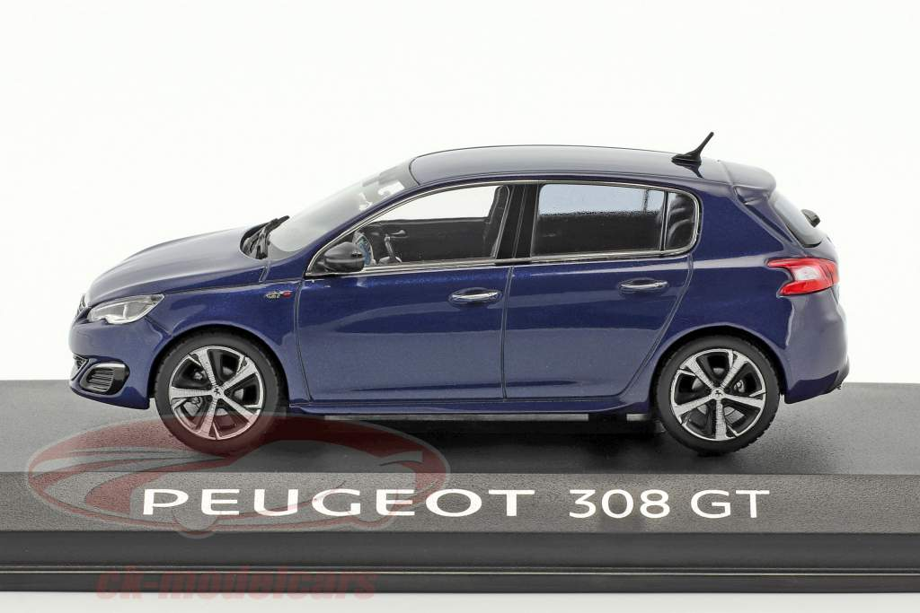 Peugeot 308 GT blau metallic 1:43 Norev