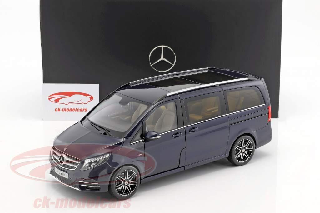 Mercedes-Benz V-Klasse année de construction 2017 cavansit bleu métallique 1:18 Norev