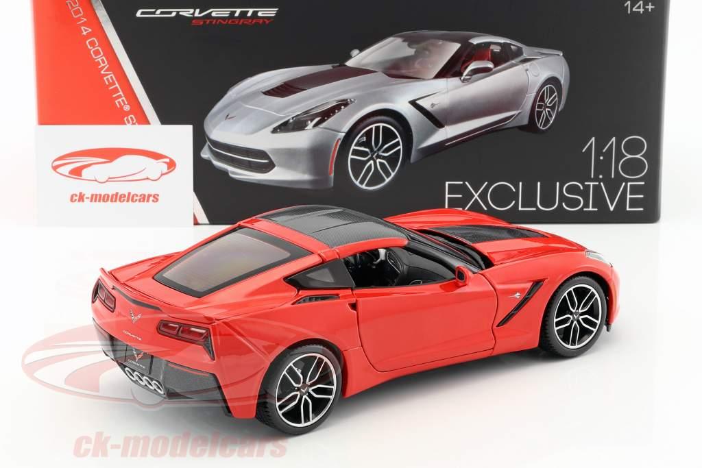 Chevrolet Corvette Stingray Z51 year 2014 red 1:18 Maisto