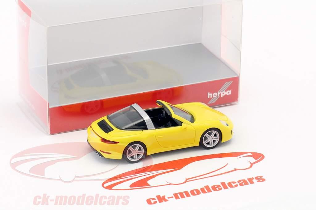 Porsche 911 (991) Targa 4 corsa giallo 1:87 Herpa