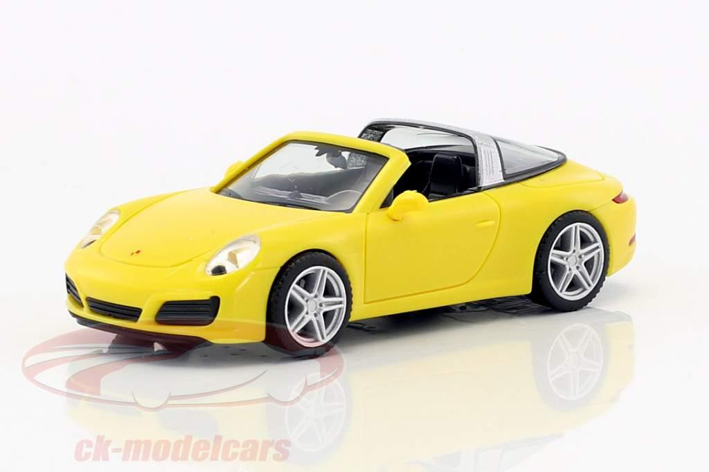 Porsche 911 (991) Targa 4 racing yellow 1:87 Herpa