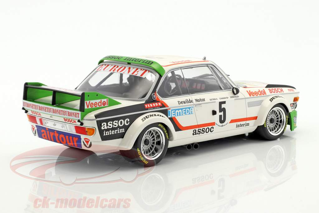BMW 3.0 CSL #5 Winner 24h Spa 1976 Chavan, Detrin, Demuth 1:18 Minichamps