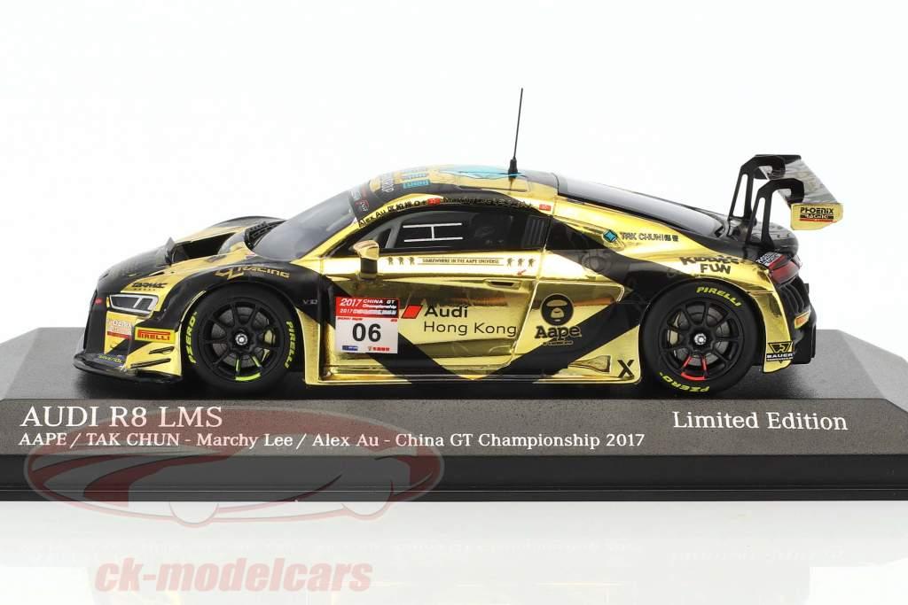 Audi R8 LMS #6 porcellana GT campionato 2017 Tarmac Works 1:43 Minichamps