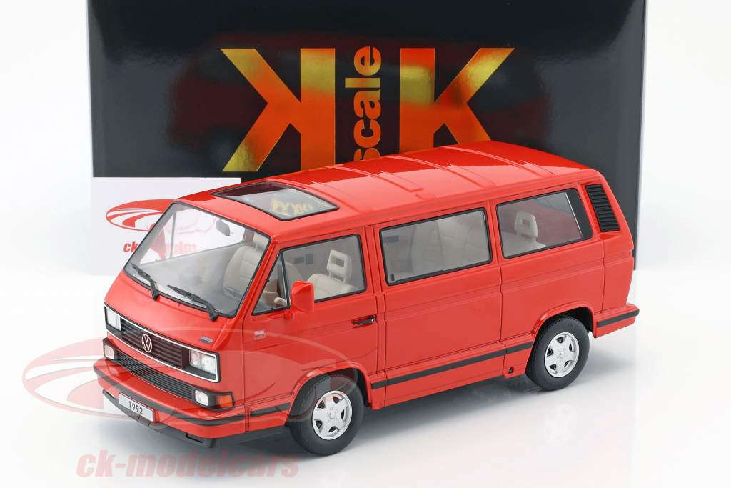 Volkswagen VW Bulli T3 Multivan Last Edition 1992 red 1:18 KK-Scale