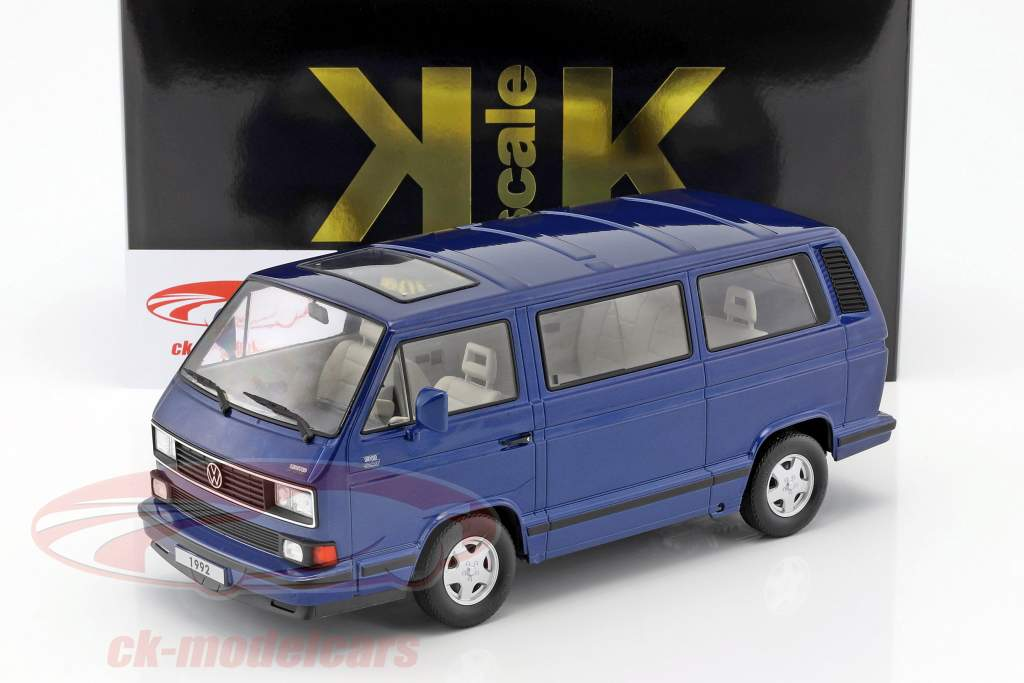 Volkswagen VW Bulli T3 Multivan Last Edition 1992 blue metallic 1:18 KK-Scale