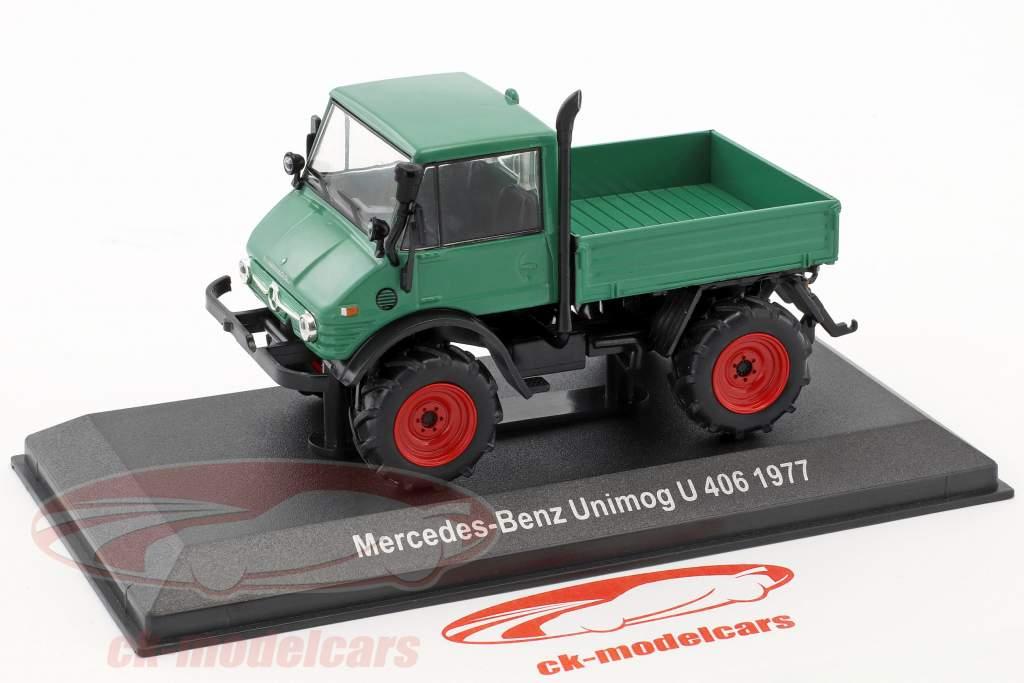 Mercedes-Benz Unimog U 406 year 1977 green 1:43 Hachette
