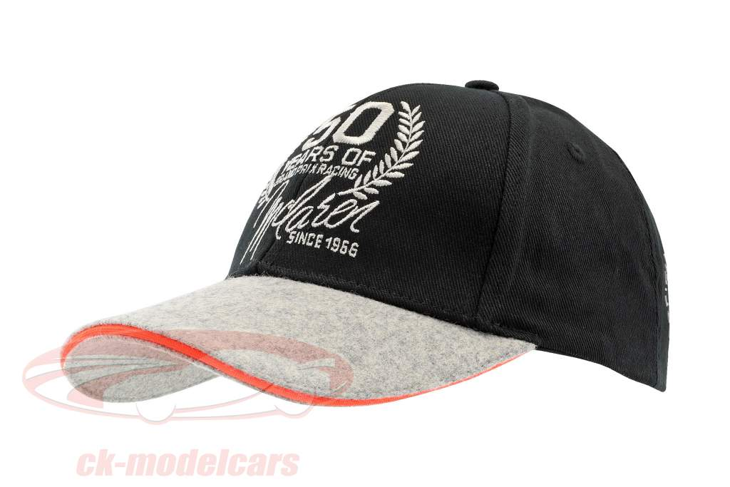 Team Member Cap McLaren 50 Years of Grand Prix Racing 2016 noir / gris / orange