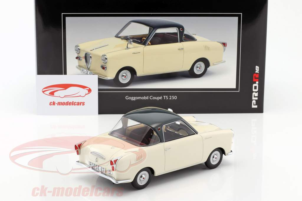 Goggomobil coupe TS 250 year 1957-1969 beige / dark gray 1:18 Schuco
