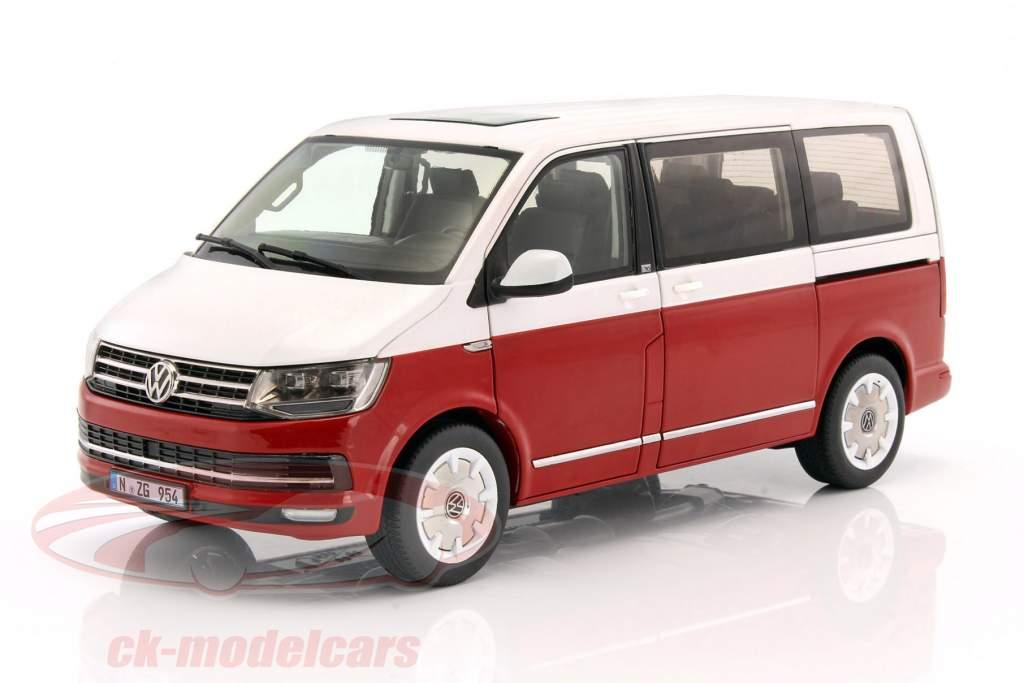 ck modelcars lx95410010 volkswagen vw multivan t6 generation six year 2017 red white 1 18 nzg. Black Bedroom Furniture Sets. Home Design Ideas