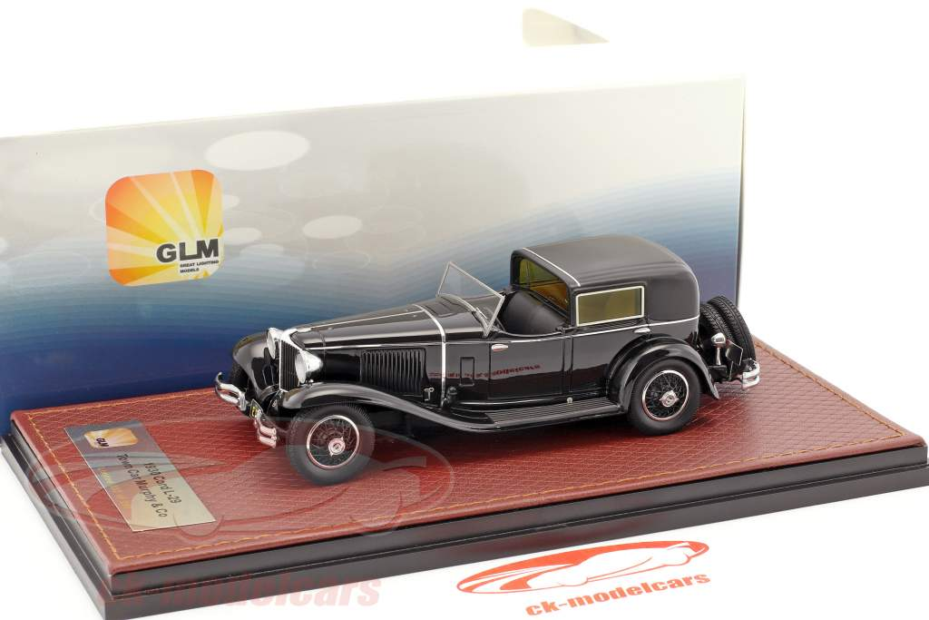 Cord L-29 Town Car Murphy & Co year 1930 black 1:43 GLM