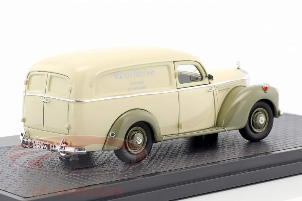 Mercedes-Benz 220 van by Autenrieth year 1952 beige / gray green 1:43 Matrix