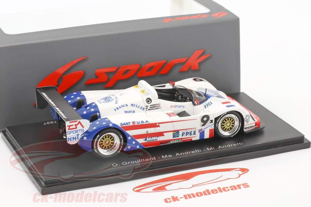 Courage C36 #9 24h LeMans 1997 Grouillard, Ma. Andretti, Mi. Andretti 1:43 Spark