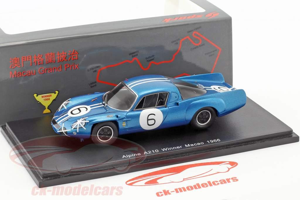Alpine A210 #6 Winner Macau GP 1966 Bianchi 1:43 Spark