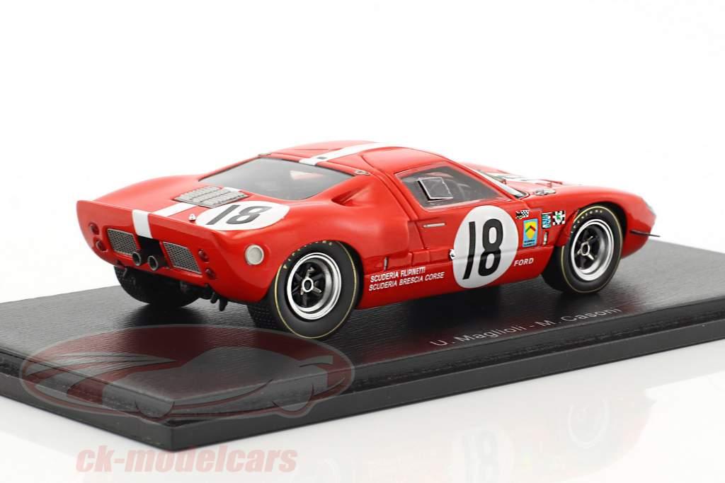Ford GT40 #18 24h LeMans 1967 Maglioli, Casoni 1:43 Spark