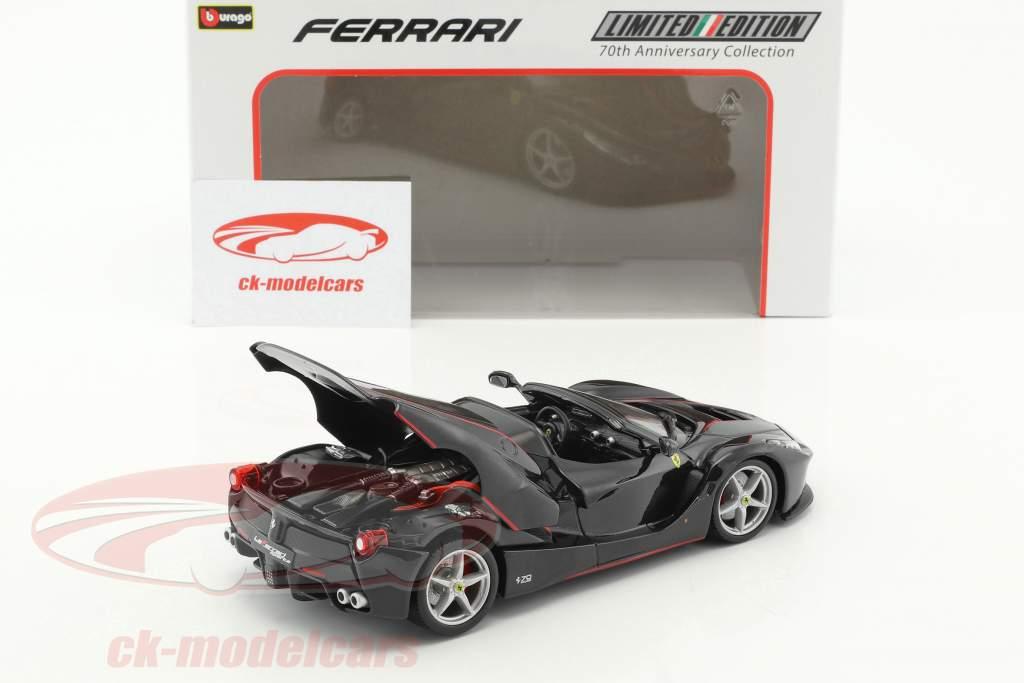 Ferrari LaFerrari Aperta 70th Anniversary Collection black 1:24 Bburago