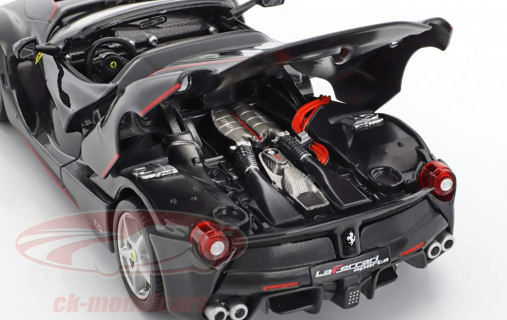 Ferrari LaFerrari Aperta 70th Anniversary Collection schwarz 1:24 Bburago