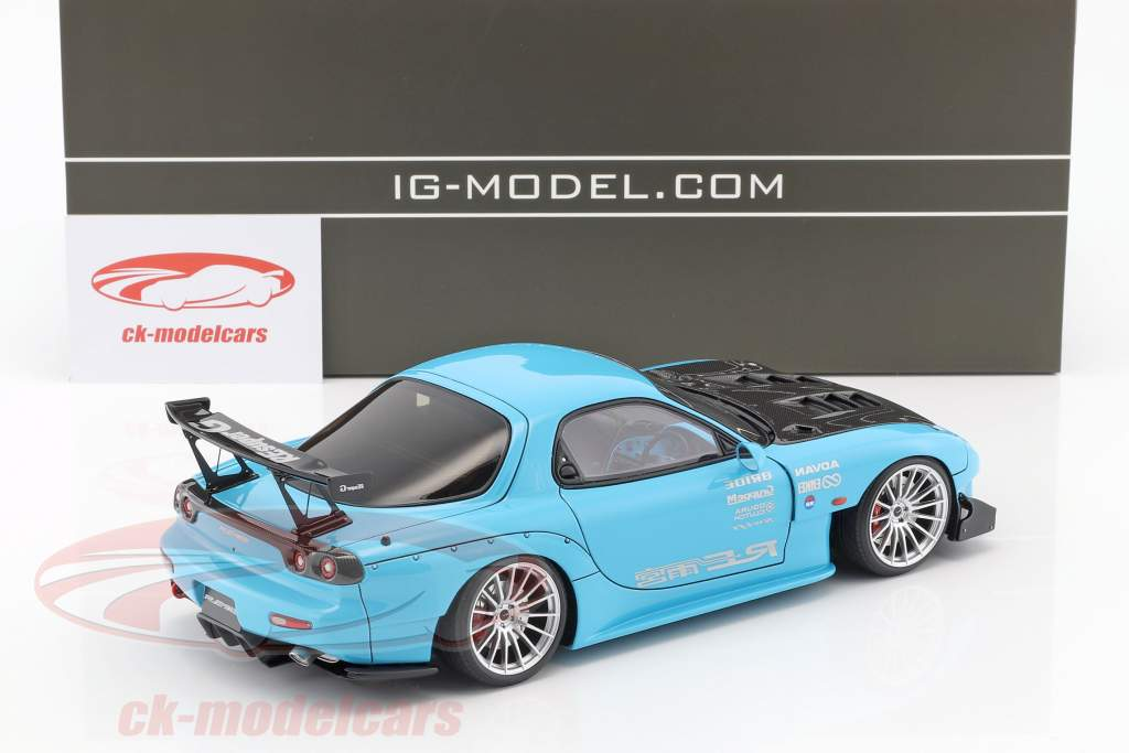 Mazda RX-7 (FD3S) RE Amemiya azzurro 1:18 Ignition Model