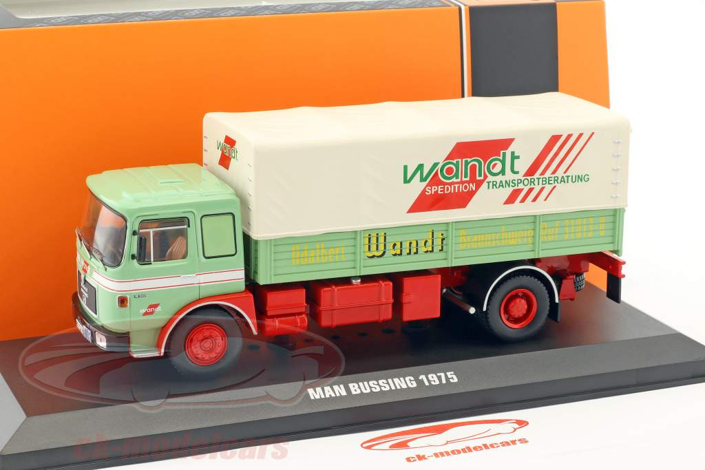 MAN Büssing Wandt Spedition year 1975 green / red 1:43 Ixo