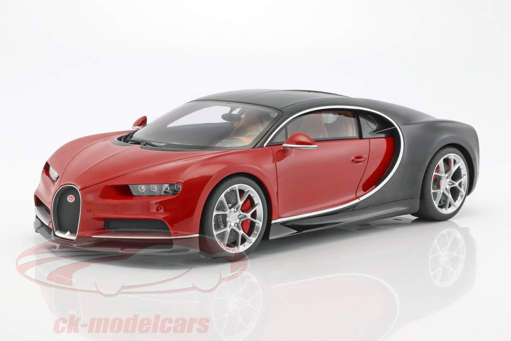 Bugatti Chiron year 2016 red / black 1:12 Kyosho