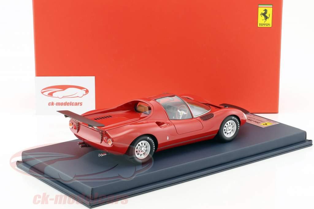 Ferrari Dino 206 S Prototipo Baujahr 1966 rot 1:18 LookSmart