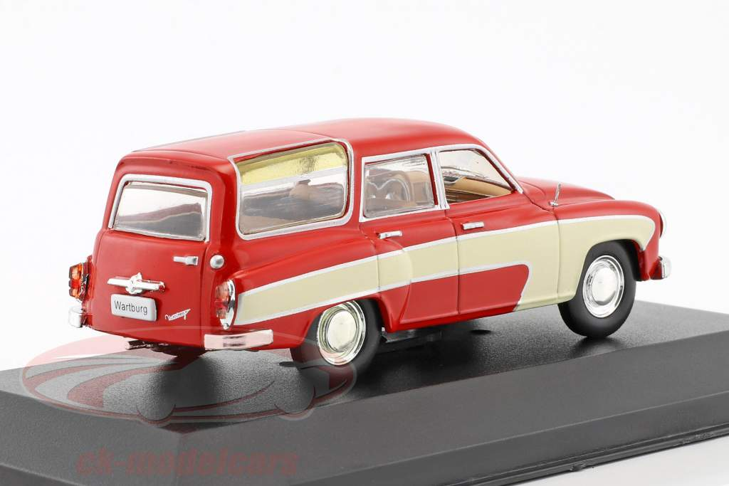 Wartburg 312 Camping year 1960 red 1:43 WhiteBox