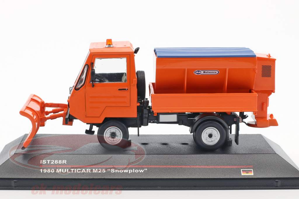 Multicar M25 Snowplow Baujahr 1980 orange 1:43 Ixo