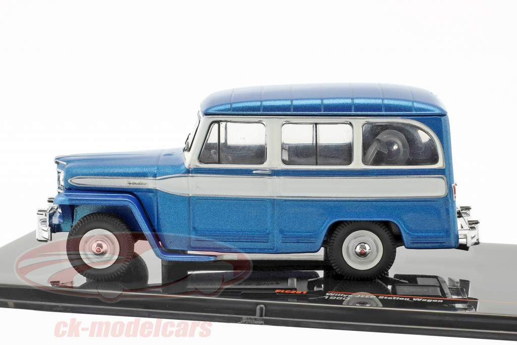 Willys Jeep Station Wagon year 1960 blue / white 1:43 Ixo