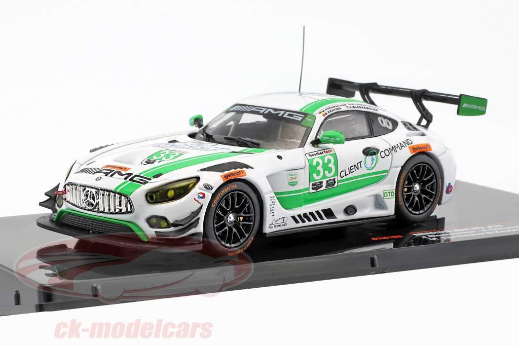 Mercedes-Benz AMG GT3 #33 24h Daytona 2017 Keating, Bleekemolen, Farnbacher, Christodoulou 1:43 Ixo